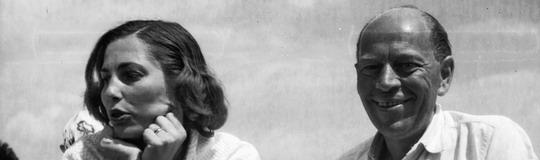 Örkény en compañía de su segunda mujer, Angéla Nagy